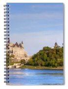 Parliament Buildings And The Fairmont Spiral Notebook