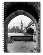 Parliament Through An Archway Spiral Notebook