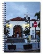 Parraquia De San Amaro. Puerto De La Cruz By Night Spiral Notebook