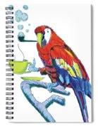 Parrot Cartoon Spiral Notebook
