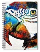 Parrot Head Art By Sharon Cummings Spiral Notebook