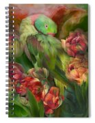 Parrot In Parrot Tulips Spiral Notebook