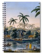Part Of The Village Of Matavae, Coconut Spiral Notebook