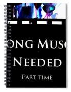 Part Time  Muscle Spiral Notebook
