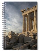 Parthenon From The South Spiral Notebook