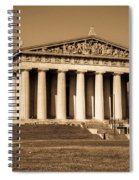 Parthenon In Sepia 3 Spiral Notebook