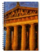 Parthenon On A Stormy Day Spiral Notebook