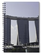 Partial View Of The Artscience Museum And The Marina Bay Sands Spiral Notebook