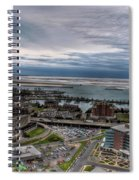 Partially Thawed Lake Erie  Spiral Notebook