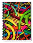 Particle Track Twenty Four Spiral Notebook