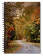 Passage Of Time - Autumn Landscape Spiral Notebook