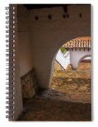 Passageway In Colonial Town Spiral Notebook