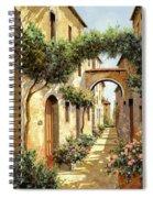 Passando Sotto L'arco Spiral Notebook