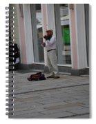 Passau Violinist Spiral Notebook