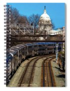 Passenger Metro Train With Us Capitol Spiral Notebook