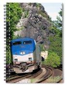Passenger Train Locomotive Spiral Notebook