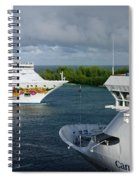 Passing Cruise Ships Spiral Notebook