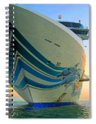Passing Cruise Ships At Sunset Spiral Notebook