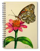 Passion Butterfly On Zinnia Spiral Notebook