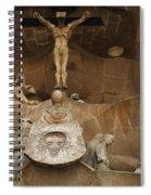 Passion Facade Barcelona Spiral Notebook