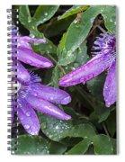 Passion Vine Flower Rain Drops Spiral Notebook
