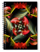 Passionate Love Bouquet Abstract Spiral Notebook