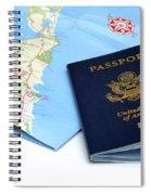 Passport And Map Of Bermuda Spiral Notebook