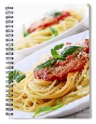 Pasta And Tomato Sauce Spiral Notebook