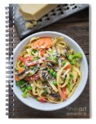 Pasta Primavera Dish Spiral Notebook