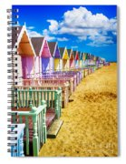Pastel Beach Huts 2 Spiral Notebook