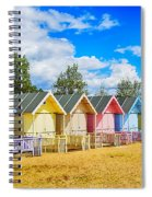 Pastel Beach Huts Spiral Notebook