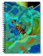 Pastel Dragonfly Rose Spiral Notebook