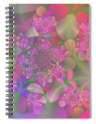 Pastel  Fractal Flower Garden Spiral Notebook