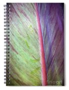 Pastel Leaf Detail Spiral Notebook