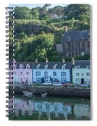 Pastel Rowhome In The Bay Highlands Scotland Spiral Notebook