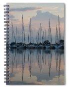 Pastel Sailboats Reflections At Dusk Spiral Notebook