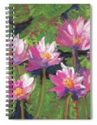 Pastel Water Lilies I  Spiral Notebook