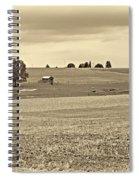 Pastoral Pennsylvania Sepia Spiral Notebook