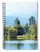 Pastoral Pond And Valley Spiral Notebook