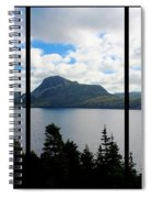 Pastoral Scene By The Ocean Triptych Spiral Notebook