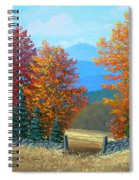 Pasture Gate In Autumn Spiral Notebook