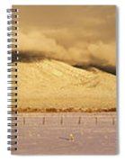Pasture Land Covered In Snow At Sunset Spiral Notebook
