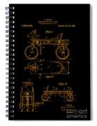 Patent Art 1920 Herzog Hobby Horse Gold Spiral Notebook