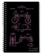 Patent Art 1920 Herzog Hobby Horse Pink Spiral Notebook