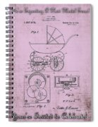 Patent Art Baby Carriage 1920 Lark Invite IIi Spiral Notebook