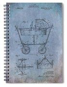 Patent Art Baby Carriage 1922 Mahr Denim Spiral Notebook
