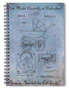 Patent Art Baby Carriage Lark II Invite Spiral Notebook