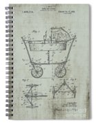 Patent Art Mahr Baby Carriage 1922 Green Spiral Notebook