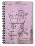 Patent Art Mahr Baby Carriage 1922 Pink Spiral Notebook