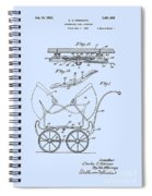 Patent Art Robinson Baby Carriage Blue Spiral Notebook